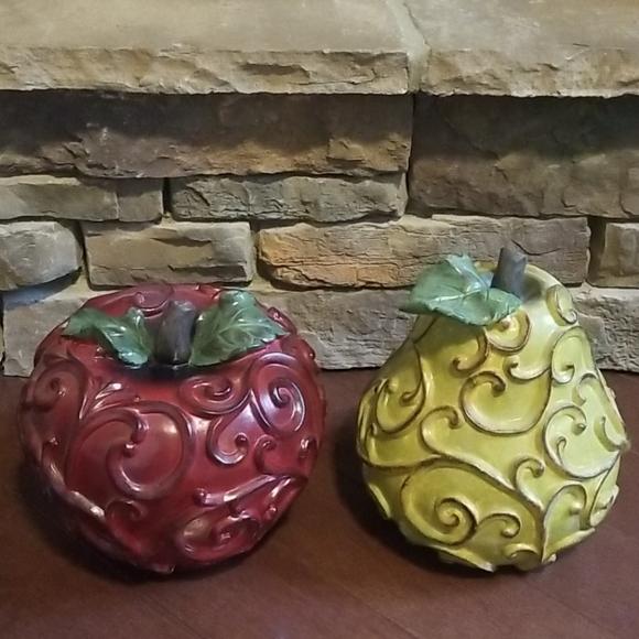 Large decorative fruit set